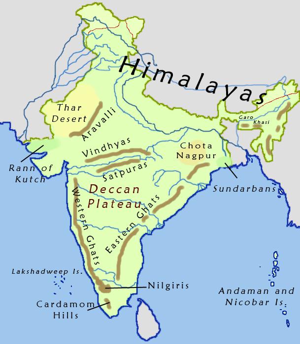 Deccan Plateau Map Deccan Plateau Map   Deccan Plateau